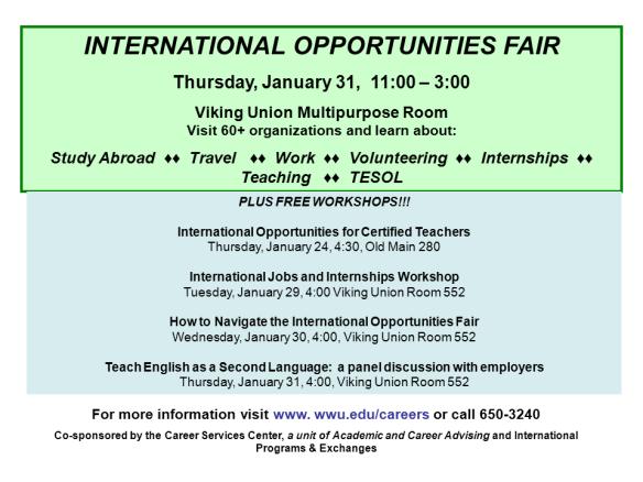 International Opportunities Fair