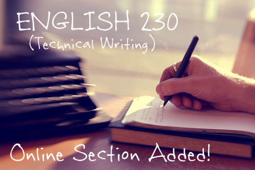 English 230 section added