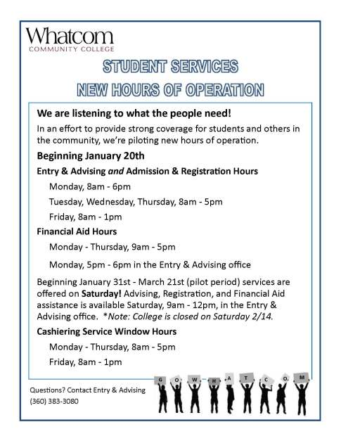 student services hours final