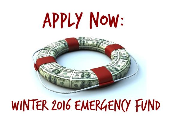 emergency fund winter 2016