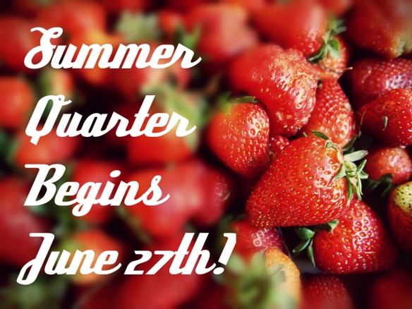 summer quarter begins june 27